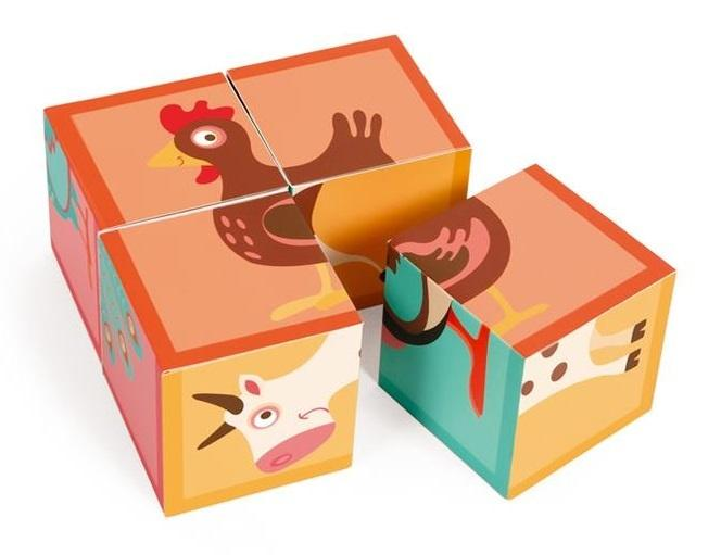 Puzzle cubes farm animals Scratch