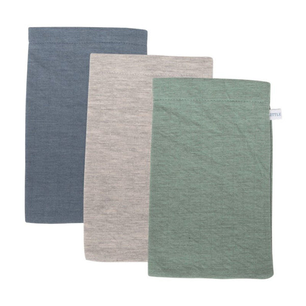 Wash cloth mint grey blue Little Dutch