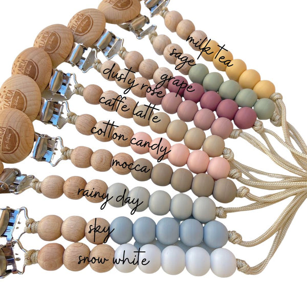 1 Jo pacifier clip - PICK YOUR COLOR Clip Melancia