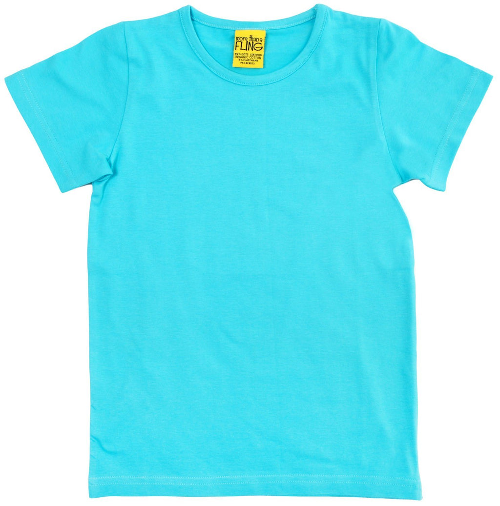 Light turquoise short sleeve top