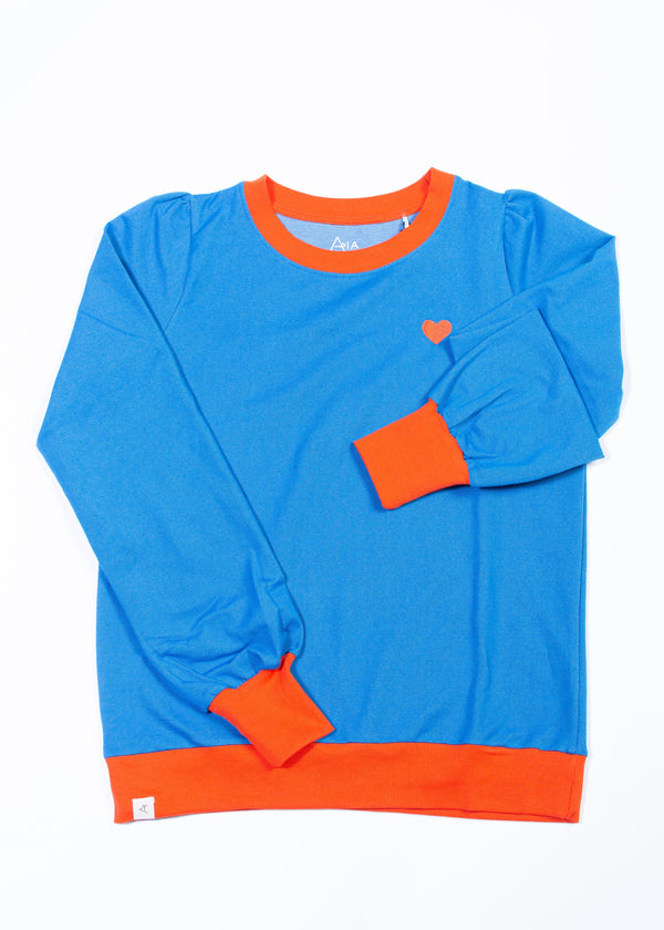 The sweat shirt for a cozy day - snorkel blue AiA WOMAN AlbaBaby Woman Alba of Denmark