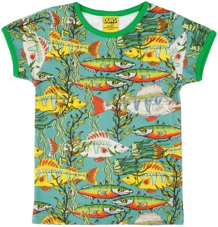 SS top fishes seaweed teal Duns Sweden - adult Tops Duns Sweden
