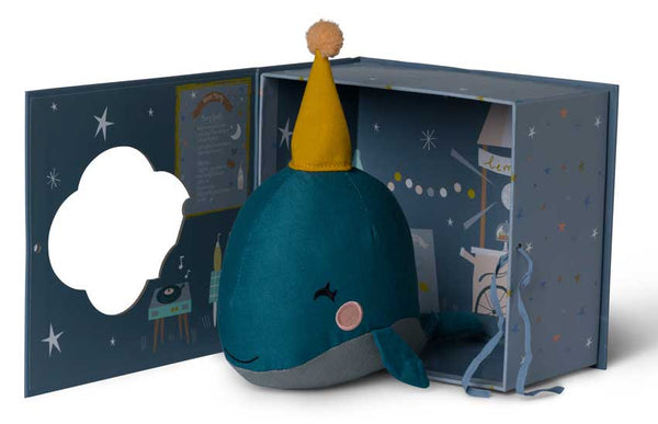 Whale in a gift box Picca Loulou Toys Picca Loulou