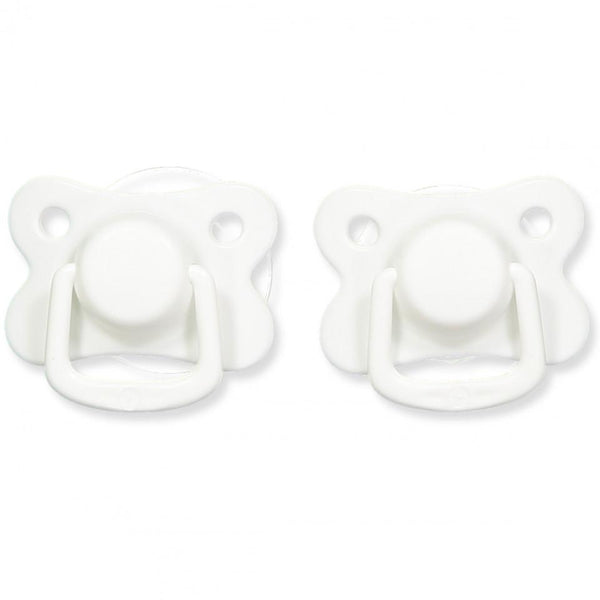 Copy of Pacifiers 2-pack white +6M Filibabba
