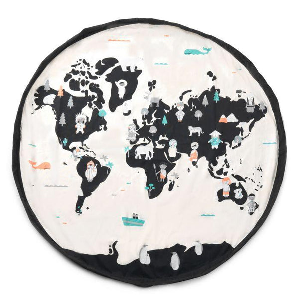 2 in 1 Worldmap-stars toy storage bag Play&Go
