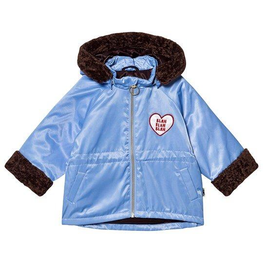 Faux fur parka light blue Mini Rodini Jackets Mini Rodini