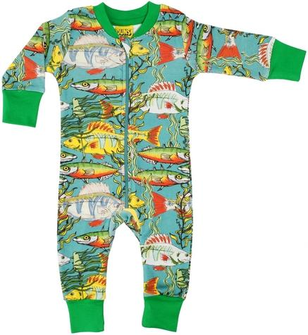 Fishes sea weed zip suit teal Duns Sweden Playsuit Duns Sweden