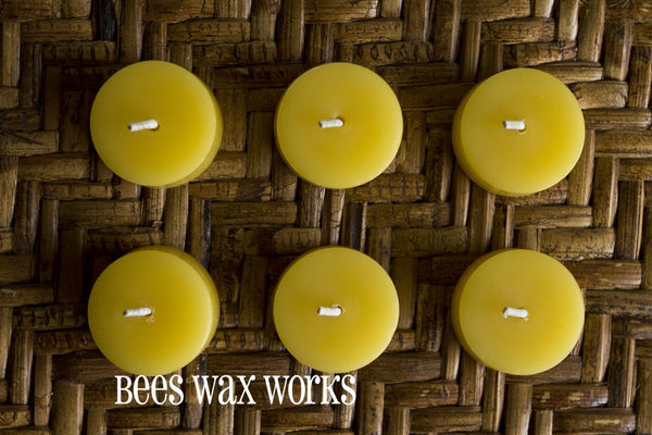 Pure Beeswax Tea Lights (6) - 12 units or more