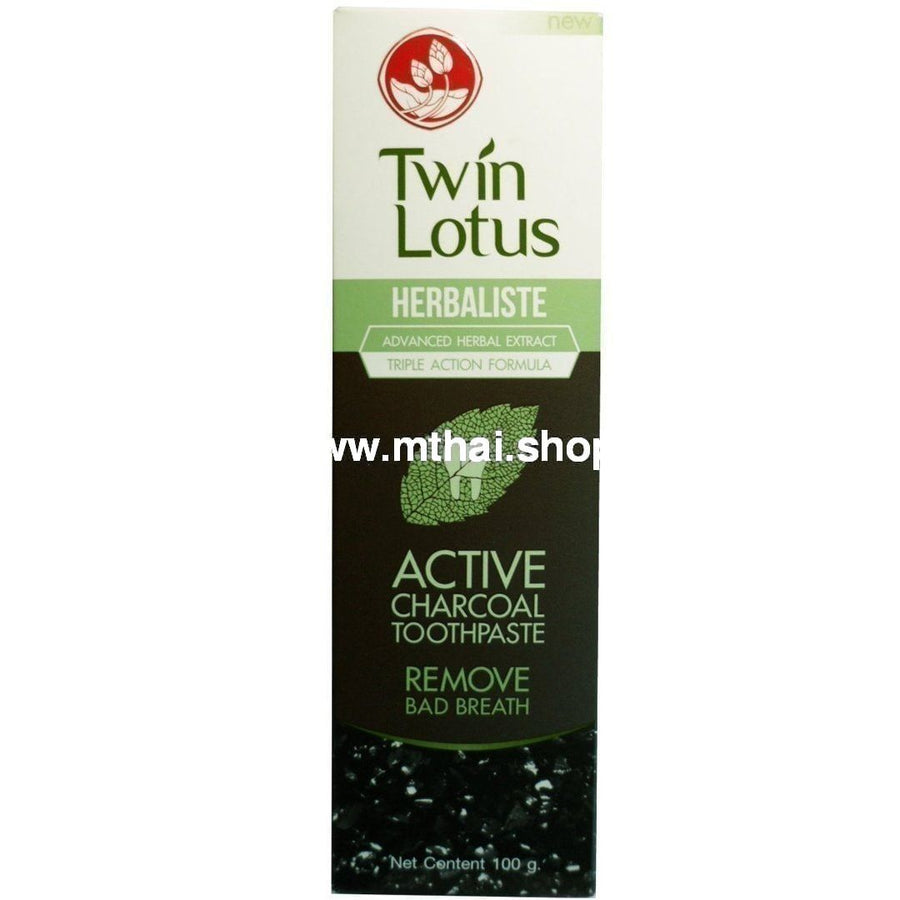 Зубная паста с бамбуковым углем Twin Lotus 100 грамм / Twin Lotus Active charcoal toothpaste 100 g