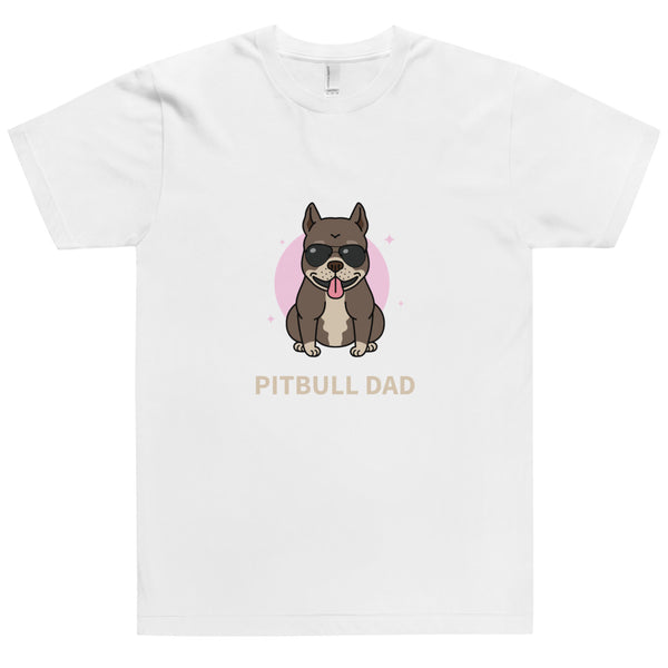 Pitbull Dad Unisex T-Shirt-YES WE PETS