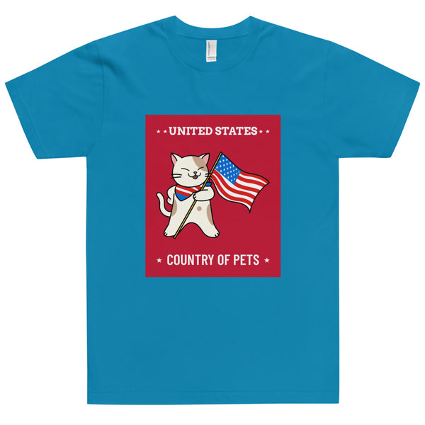 Unisex T-Shirt United states Country of Pets-YES WE PETS