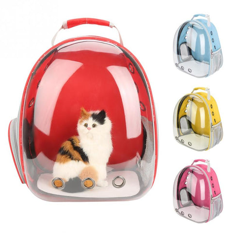 Breathable Transparent Capsule Pet Carrying Cage-YES WE PETS