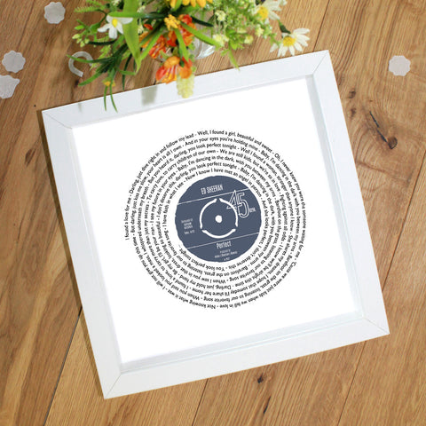 Her Favourite Song As A Presentation Disc Vinyl Record Personalised Gift for Her - A4 or A3 Size
