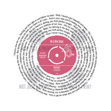 Her Favourite Song As A Vinyl Record Personalised Gift for Her - 7 Inch Single Size