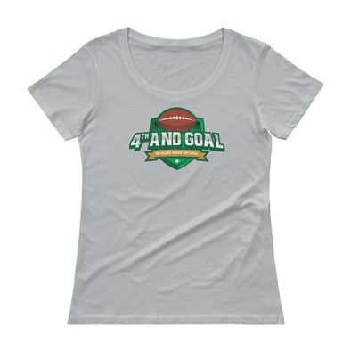 4th and Goal Ladies' Scoopneck T-Shirt