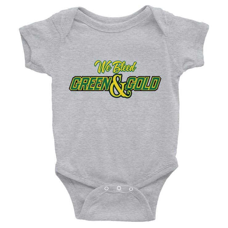 We Bleed Green and Gold Onesie