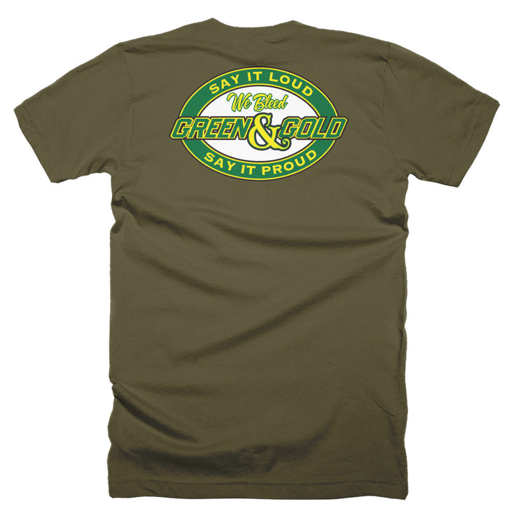 We Bleed Green and Gold T-Shirt
