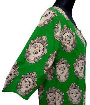 Kalamkari Jacket : Green-F