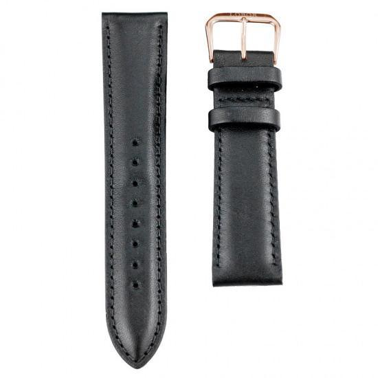 Classy Black Leather 20mm