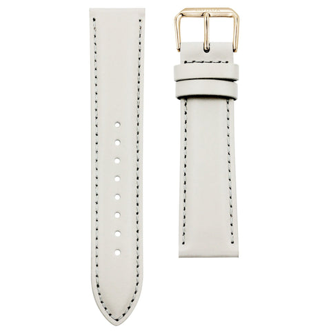 20mm Off-white Italian Leather