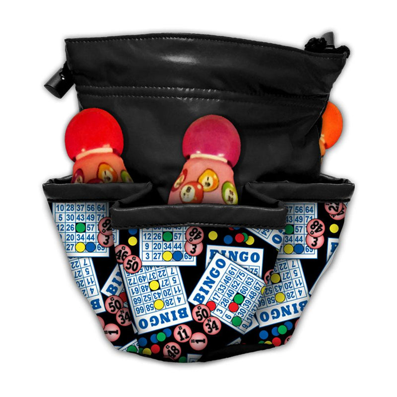 #1 Bingo Cards and Ball 5 Pocket Bingo Bag
