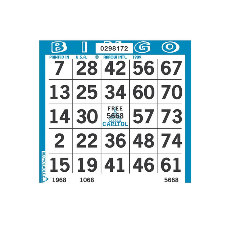 1on Square Bingo Paper (3000 Sheets) - CAPITOL BRAND (Limited Time Only)