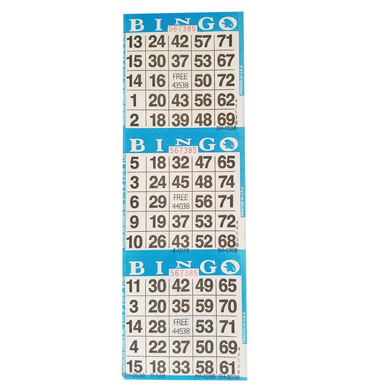 3on Vertical Bingo Case Paper - Blue (2880 sheets padded)