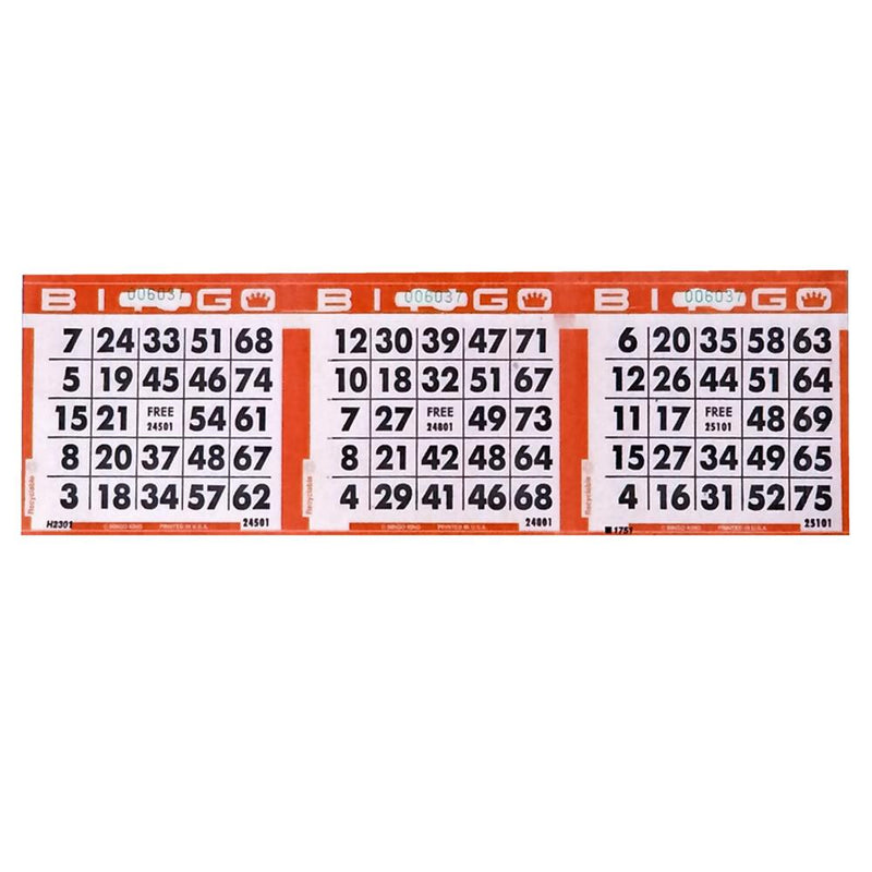 3on Horizontal Bingo Case Paper - Red (3000 sheets padded)