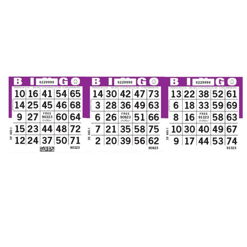 3on Horizontal Bingo Paper, 1000 Sheets (Padded in 25 sheets per pad) , Orchid - CHAMPION