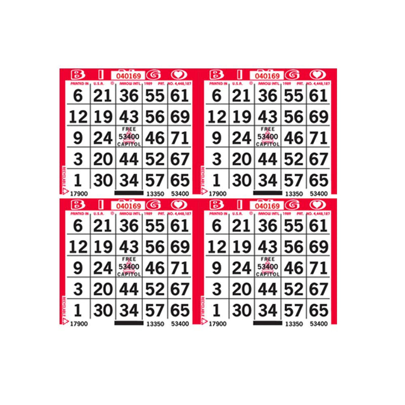 4on Square Bingo Paper (750 Sheets) - CAPITOL BRAND (Limited Time Only)