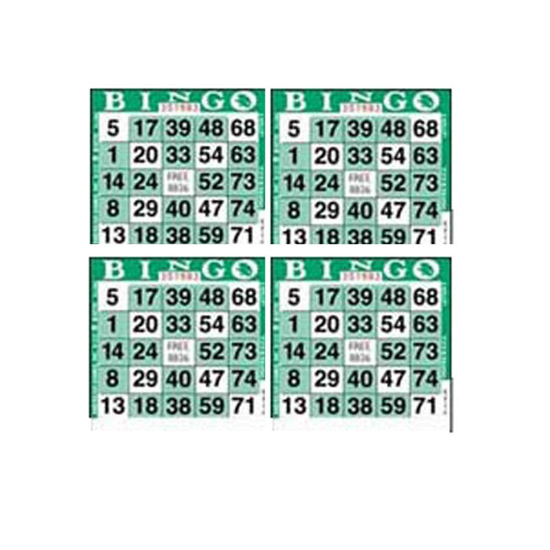 4on Square Bingo Paper, Letter X Green - CASE (2250 Sheets)