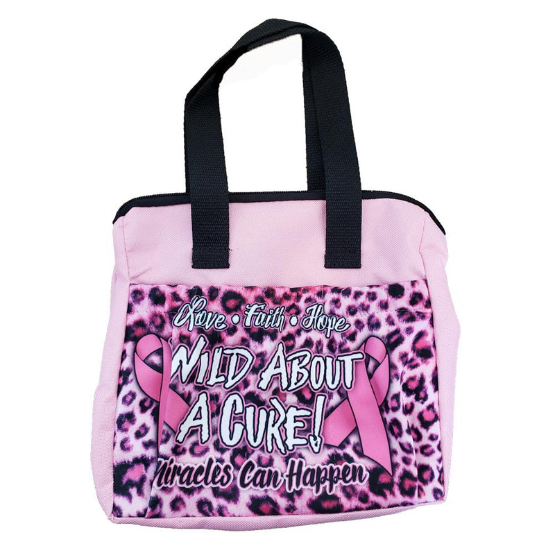 Wild About A Cure 6 Pocket Zipper Bingo Tote