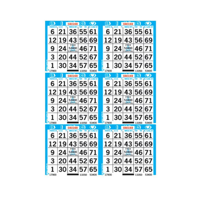 6on Vertical Bingo Paper (500 Sheets) - CAPITOL BRAND (Limited Time Only)