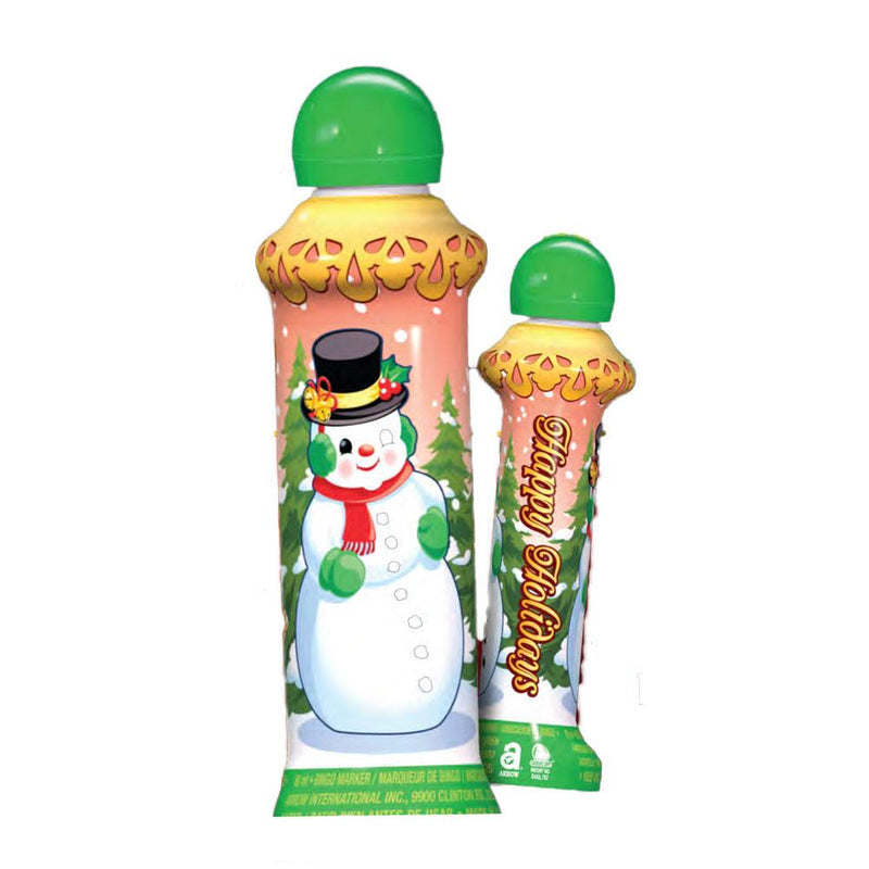 Happy Holidays Snowman Bingo Dauber