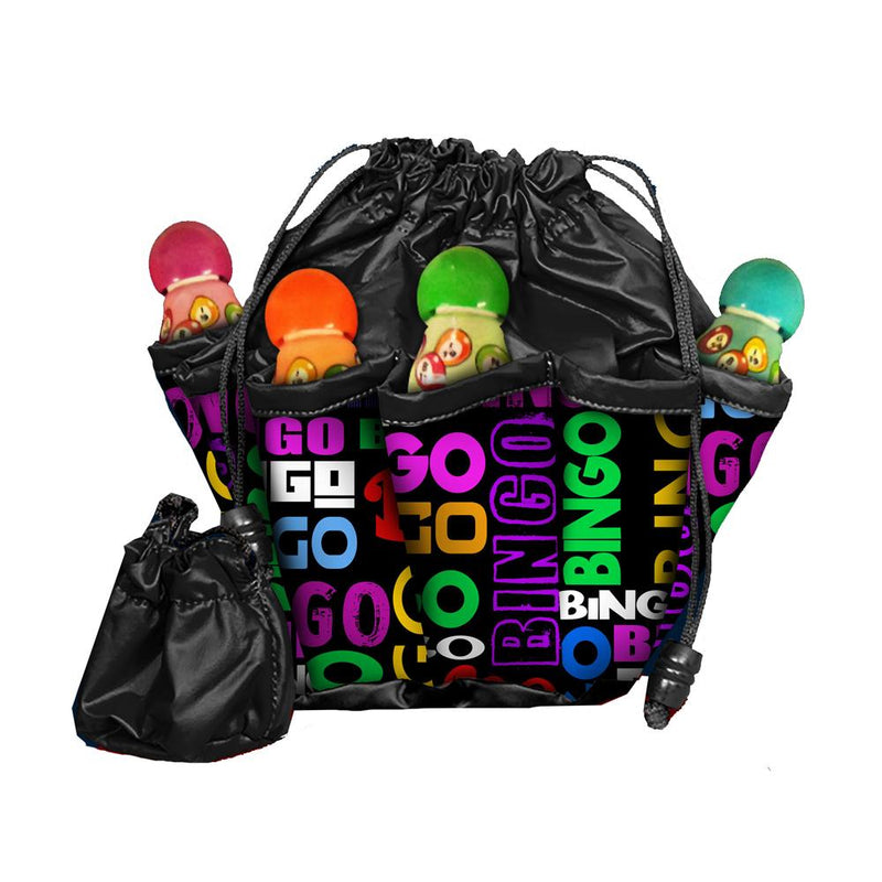 Bingo Word Scramble 10 Pocket Bingo Bag with Chip Pouch