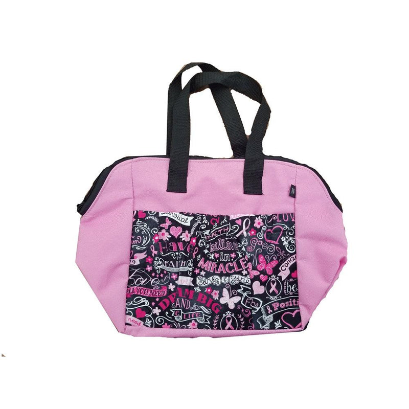 Breast Cancer 6 Pocket Zipper Tote