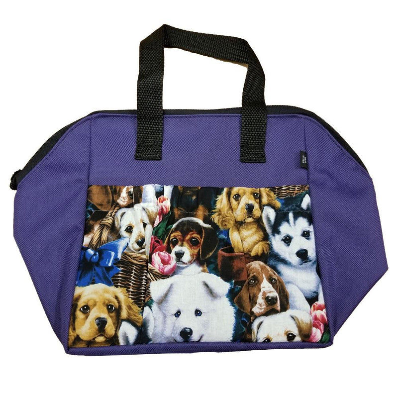 Dog 6 Pocket Zipper Tote