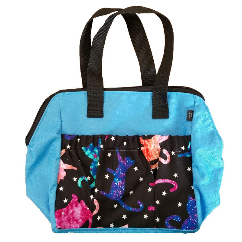 Galaxy Cat 6 Pocket Zipper Tote