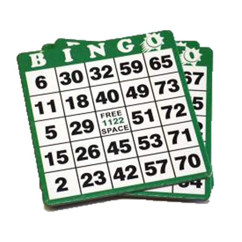 1on Bingo Hard Card - Green