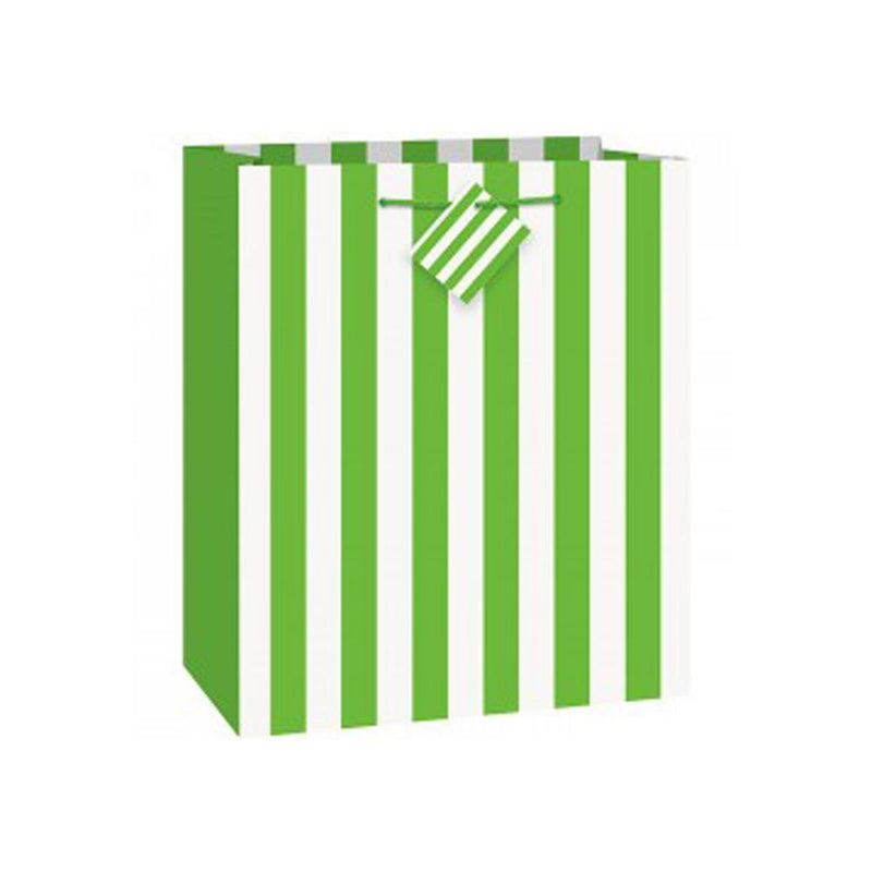 Green Stripe Gift Bag