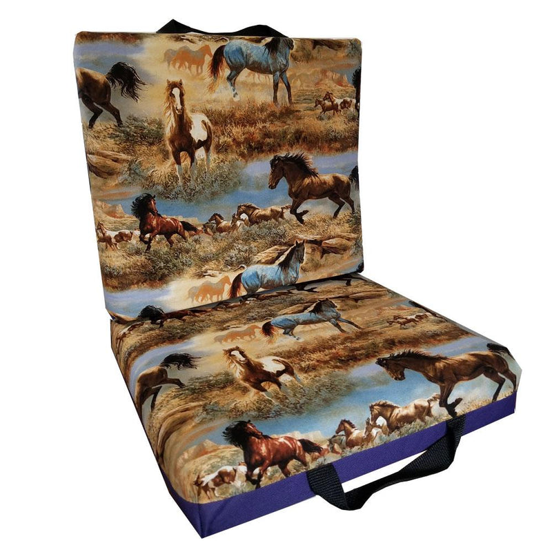 Horses In The Field Bingo Cushion