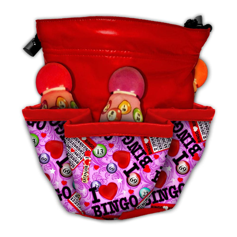 I Love Bingo 5 Pocket Bingo Bag