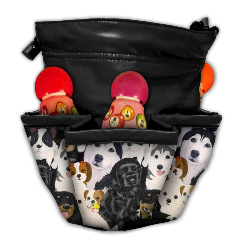 Dogs 10 Pocket Bag with Chip Pouch
