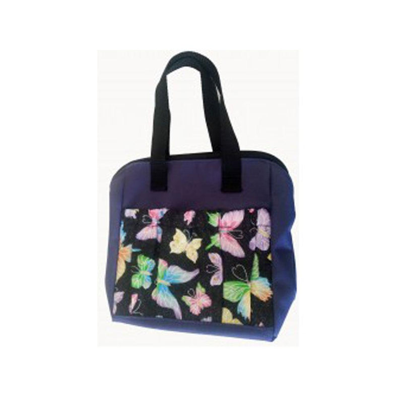 Tropical Butterfly 6 Pocket Zipper Tote