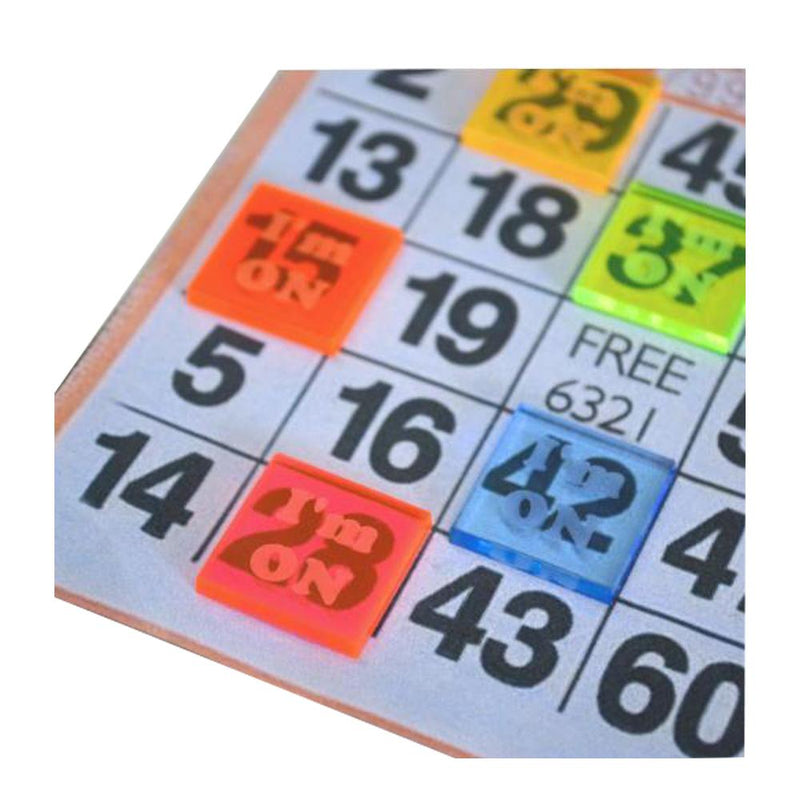 Translucent Square Bingo Waiters - Package of 5