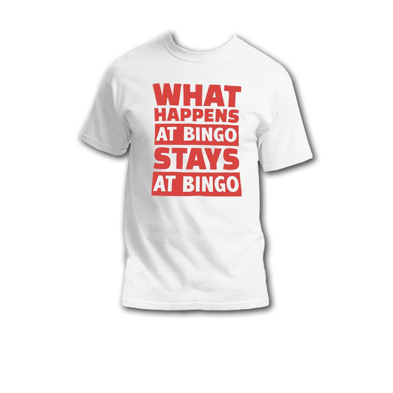 What Happens At Bingo Stays At Bingo T-Shirt (Pink)