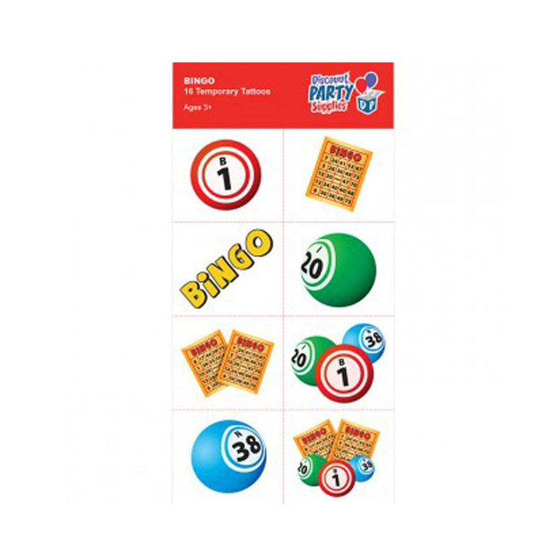 Bingo Temporary Tattoos (Pkg of 16)