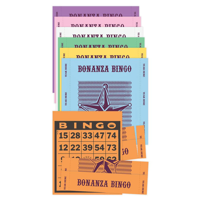 3on Vertical Bonanza Bingo Paper - 500 sheets (Blue)