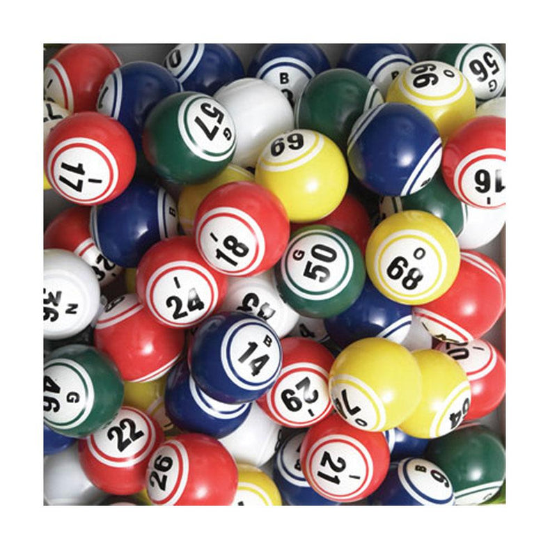 "Bingo Ball Set, (Coated) Double Number (1.5"")"