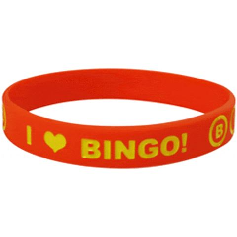 I Heart Bingo Rubber Wristband